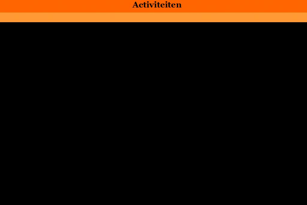 Lijst met activiteiten 2018