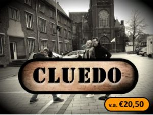 Cluedo Logo 2019 met vanaf prijs