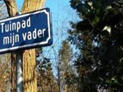 Tuinpad van mijn vader straatnaam bord Wat te doen in Deurne 2